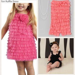 BUNDLE OF GIRLS 2T/3T RUFFLE DRESS & ROMPERS